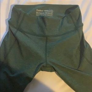 Green workout leggings tights